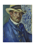 Self Portrait with Panama Hat, 1912 Giclee Print by Lovis Corinth