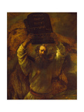 Moses Breaking the Tablets of the Law, 1659 Giclee Print by  Rembrandt van Rijn