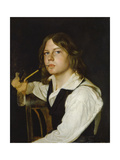 Self Portrait at an Early Age, 1823-24 Giclee Print by Wilhelm Lindenschmidt d.Ä.