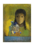 Woman with Wild Flowers Giclee Print by Odilon Redon