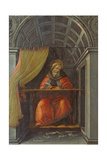 Salint Augustine in His Cell Giclee Print by Sandro Botticelli