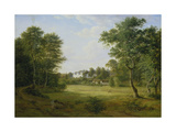 A Wooded Landscape with a Castle Giclee Print by Frederik Christian Kiaerskou