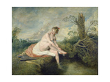 The Bath of Diana, C. 1715-16 Giclee Print by Jean Antoine Watteau