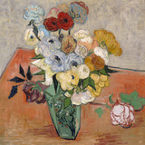 Vase with Roses and Anemones, 1890 Giclee Print by Vincent van Gogh