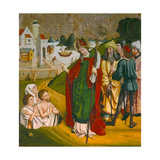 Saint Nicholas Resurrects Three Dead People Giclee Print