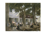 Beer Garden in Brannenburg, 1896 Giclee Print by Max Liebermann