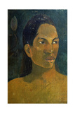 Head of a Tahitia Woman, C. 1891 Giclee Print by Paul Gauguin