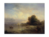Fishing Boats, Lake Constance, 1852 Giclee Print by Friedrich Thurau