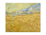 Wheatfield with Reaper (La Moisson), 1889 Giclee Print by Vincent van Gogh