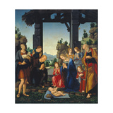 Adoration of the Shepherds, C. 1500-10 Giclee Print by Lorenzo di Credi