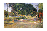Landscape with Three Trees (Paysage Aux Trois Arbres), 1892 Giclee Print by Paul Gauguin