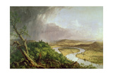 The Oxbow, View from Mount Holyoke, Northampton, Massachusetts, after a Thunderstorm, 1836 Impression giclée par Thomas Couture