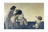 Three Women and a Girl Playing in the Water, 1907 Giclee Print by Felix Vallotton
