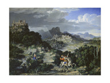 Landscape with St, George, 1807 Giclee Print by Joseph Anton Koch