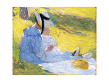 Mother and Child in the Countryside Giclee Print by Henri Martin