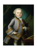 Wolfgang Amadeus Mozart in Royal Suite, 1763 Giclee Print by Peter Anton Lorenzoni
