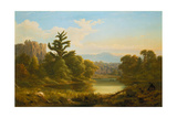 Wooded River Landscape, Pennsylvania (Monarch of the Grove) Giclee Print by Salomon Koninck