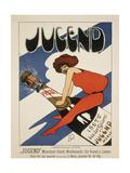 Plakatkunst - Title of the Magazine Jugend 1897 - Giclee Baskı