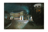 Budapest Eastern Railway Terminal at Midnight Giclee Print by Tommaso Minardi