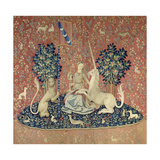 The Lady and the Unicorn, Sight, Between 1484 and 1500 Giclée-Druck