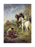 A Falcon Hunt in Algeria: the Quarry, 1863 Giclee Print by Eugène Fromentin