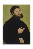 Martin Luther as Junker Joerg Giclée-tryk af Lucas Cranach the Elder