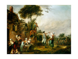 Country Wedding, 1797 Giclee Print by Louis Joseph Watteau