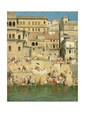 Benares, Blue Is the Sky Giclee Print by Mose Bianchi