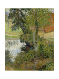 Landscape with Red Roof, 1885 Giclee Print by Paul Gauguin
