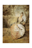 The Anxious Lover Print by Jean Antoine Watteau