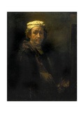 Portrait of the Artist at His Easel, 1660 Prints by  Rembrandt van Rijn