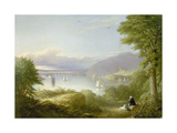 View from West Point Giclee Print by Robert Walter zugeschr Weir