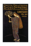 Plakatkunst - Poster for the Third Art and Crafts Exhibition in Dresden 1906 - Giclee Baskı