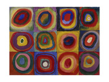 Colour Study - Squares and Concentric Bands, 1913 Giclee Print