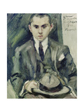Thomas Holding a Hat in His Hand, 1922 Gicleetryck av Lovis Corinth