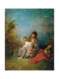 Der Faux Pas Prints by Jean Antoine Watteau