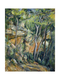 In the Park of Chateau Noir Reproduction procédé giclée par Paul Cézanne