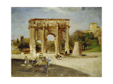 The Arch of Constantine, Rome, 1882 Giclee Print by Oswald Achenbach
