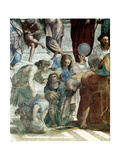 School of Athens, Detail: Euclid and Ptolemy with the Globe Giclee Print by  Raffael