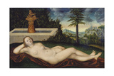 Naiad at the Fountain, 1518 Giclee Print by Lucas Cranach the Elder
