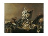 Vanitas Still-Life with Nautilus Cup, 1634 Poster by Pieter de Hooch