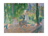 Women in a Garden, C. 1923 Giclee Print by Henri Lebasque