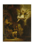 The Archangel Raphael Taking Leave of the Tobit Family, 1637 Giclee Print by  Rembrandt van Rijn