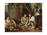 The Women of Algiers in their Apartment, 1834 Giclee Print by Eugène Delacroix