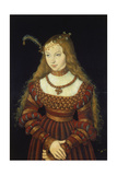 Sibylle Von Cleve as the Bride of Prince Johann Friedrich Von Sachsen-Weimar Reproduction procédé giclée par Lucas Cranach the Elder