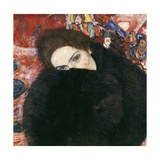 Lady with Muff, 1916-17 Giclee Print by Gustav Klimt