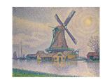 Windmuehle Bei Edam, 1896 Gicleetryck av Paul Signac
