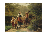 Returning from the Backery, 1860 Giclee Print by Hermann Sondermann