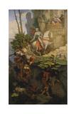The Falkenstein Knight, 1843-44 Giclée-Druck von Moritz Von Schwind