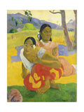 Nafea Faaipoipo (When are You Getting Married), 1892 Impression giclée par Paul Gauguin